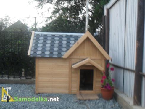 самодельная утепленная будка для собаки