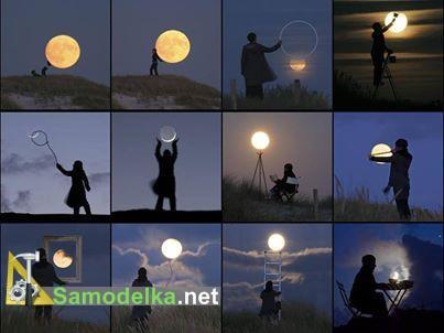фото сессия с луной