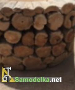 Мебель из бревен своими руками - дубовые чурбаки