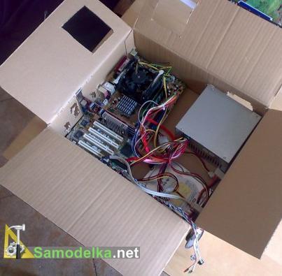 как сделать системник из коробки