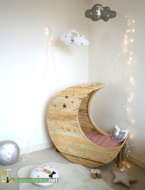самодельная кроватка полумесяц для ребенка