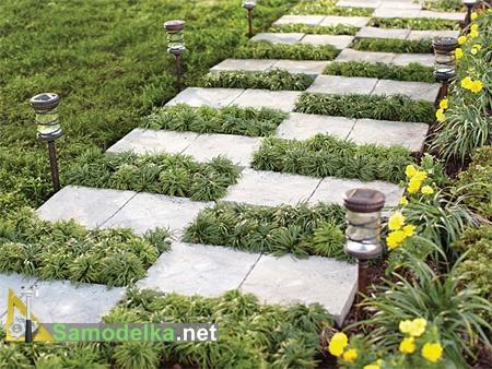 как сделать садовую дорожку своими руками