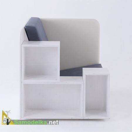 Удобное кресло для отдыха, работы и хранения