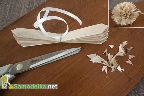 как делается бумажный новогодний шар