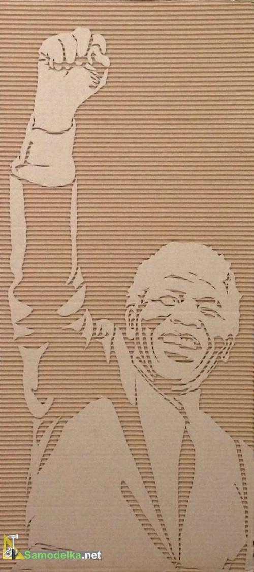 картины из картона своими руками - Мандела