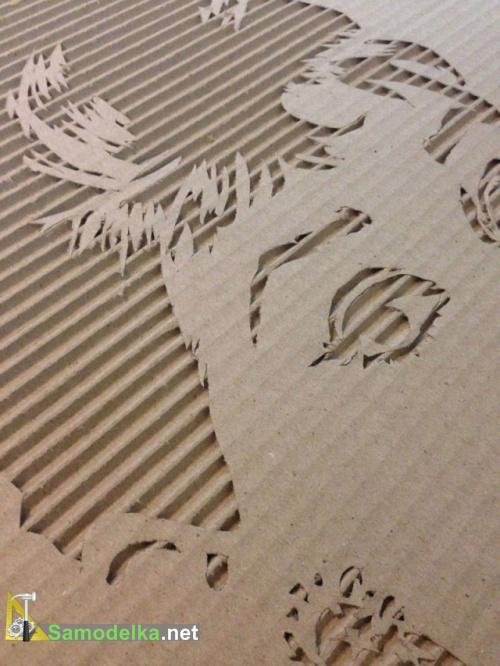 Картины из картона своими руками - Эдри Хепберн