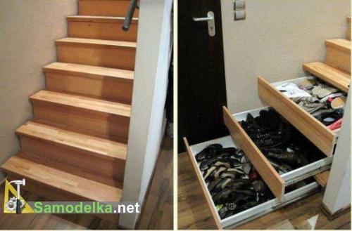 выдвижной шкаф под лестницей фото 2
