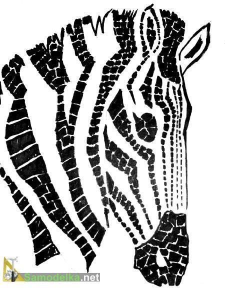столешница из мозаики своими руками шаблон зебры