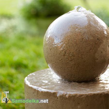 как сделать фонтан из шара
