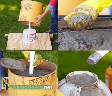 как сделать фонтан из шара подготовка и заливка форм
