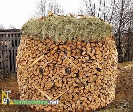 как сложить дрова улыбающаяся поленница 2