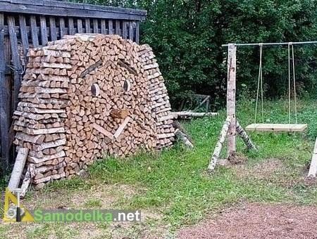 как сложить дрова улыбающаяся поленница