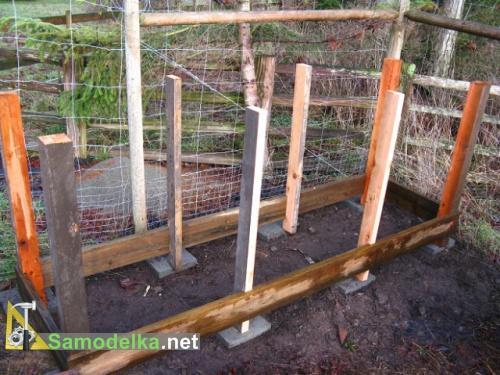 как правильно сделать компостную кучу - фундамент