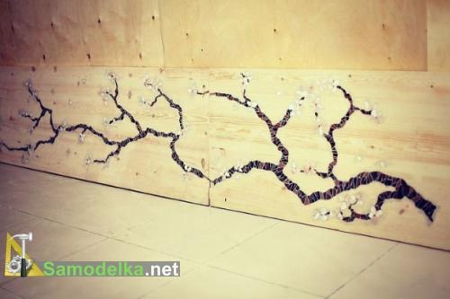 готовая мозаика сакура в дереве