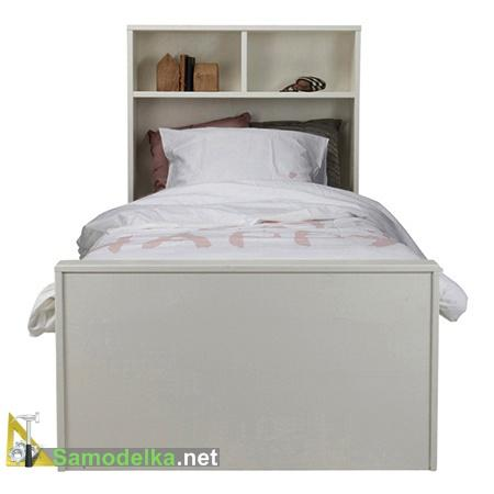 Детская кровать со встроенной книжной полкой