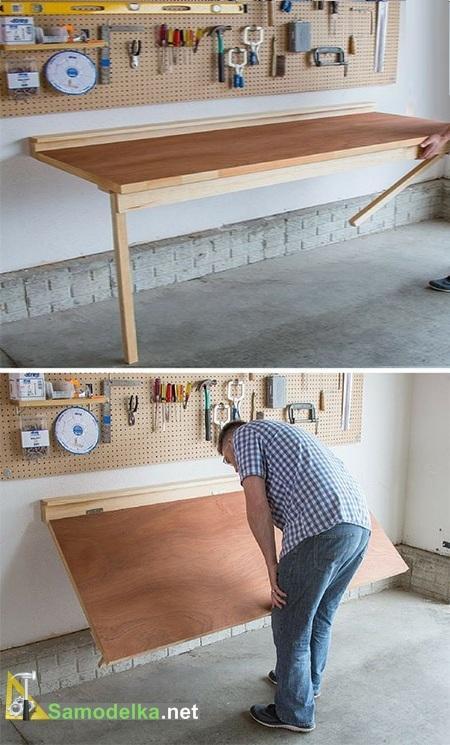 Откидной стол с креплением к стене своими руками чертежи