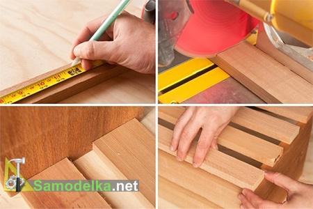 Нарезаем рейки и доски для вертикальных грядок