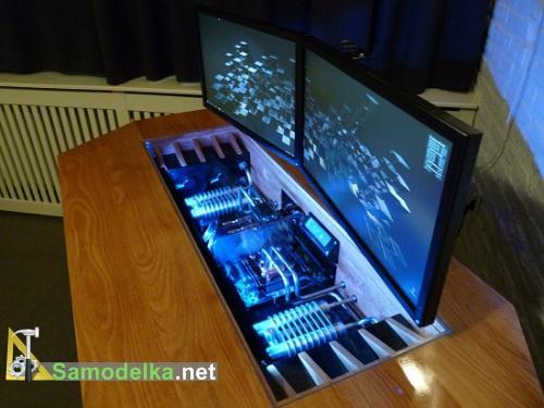 Шикарный самодельный стол для компьютера