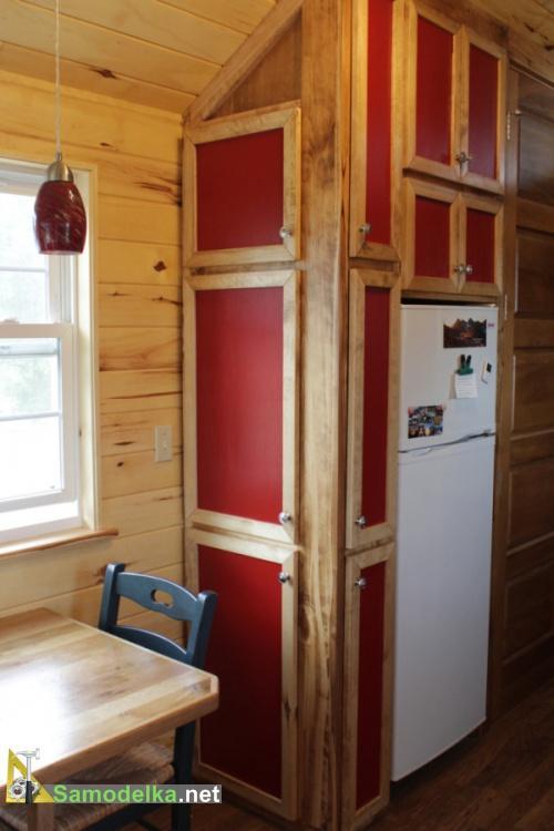 шкаф и холодильник в доме на колесах своими руками