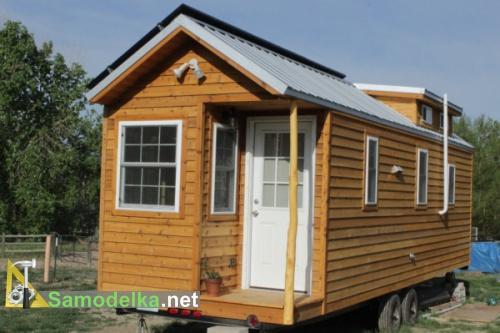 деревянный дом на колесах своими руками общий вид