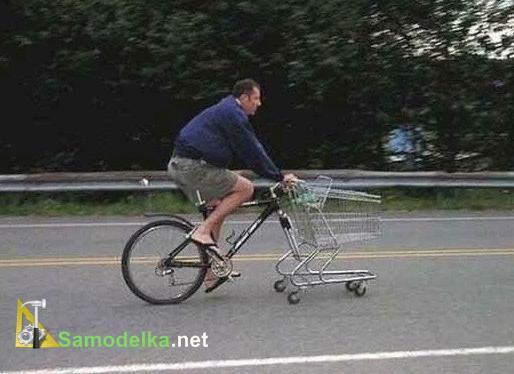 тележка вместо колеса велосипеда