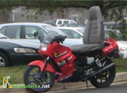 сидение от автомобиля на мотоцикл