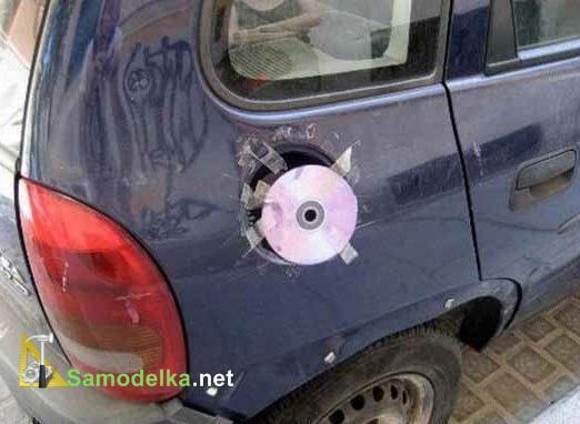 крышка бензобака из CD диска