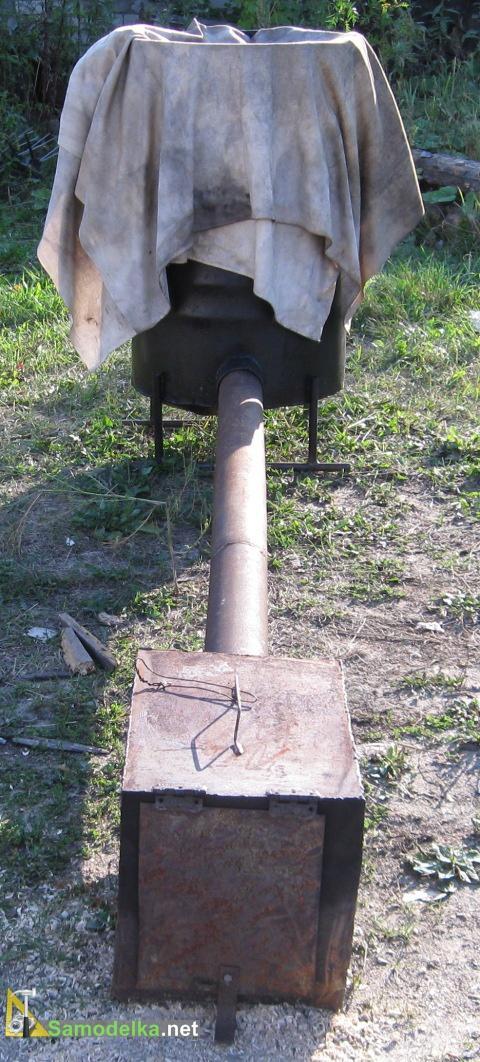фото2 коптильни из бочки, трубы и ящика