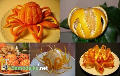 новогодняя резьба по апельсинам