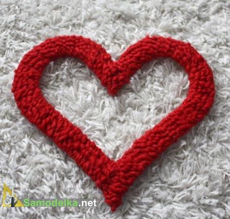 Делаем плюшевое сердечко