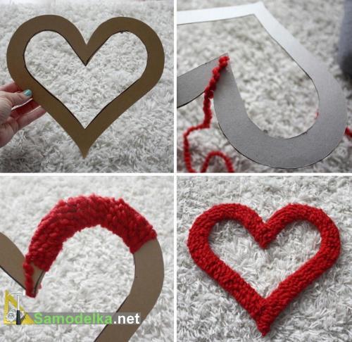 как сделать плюшевое сердечко
