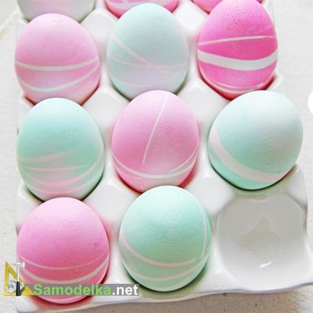 украшение пасхальных яиц своими руками яйцо в резиночку