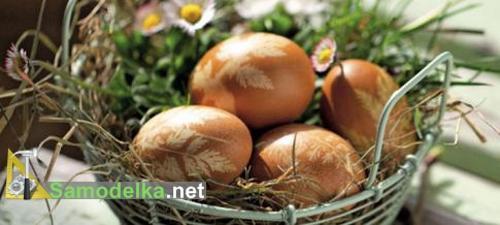 рисунок на пасхальных яйцах готов