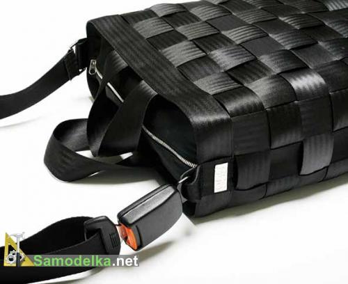Самодельная сумка из ремней безопасности