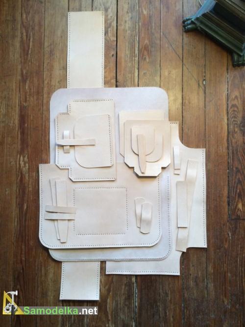 набор деталей для сумки с готовыми  швами