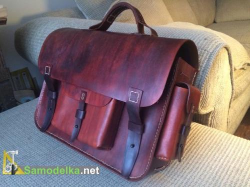 кожаная сумка своими руками мастер класс