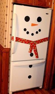 вариант холодильника снеговика