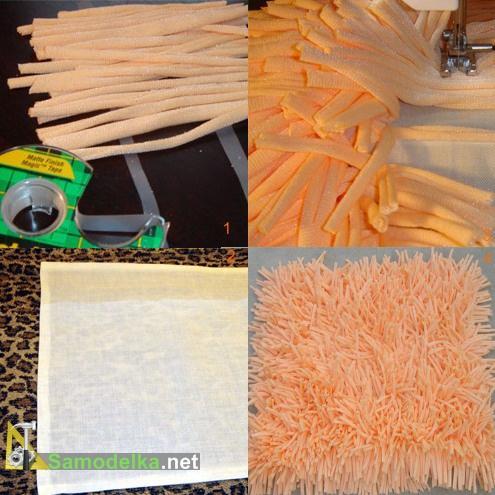 Как сделать плюшевый коврик