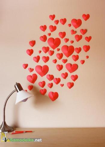 Объемные 3D сердечки из бумаги