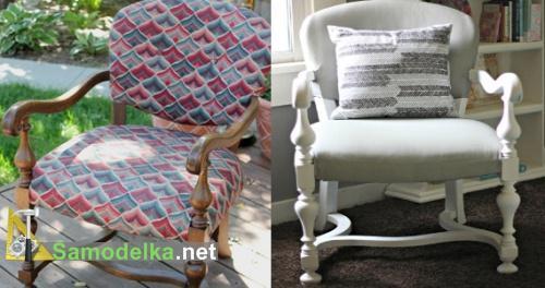Как обновить кресло - покраска вместе с обивкой