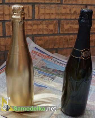 Украшение свадебных бутылок своими руками - подготовка