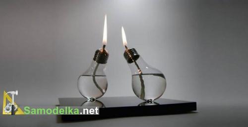 две горелки из лампочки
