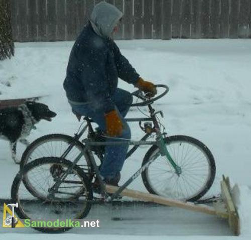 Продвинутый снегоуборочный велосипед