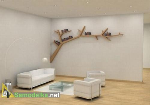 Необычные полки на стену фото в форме сука дерева