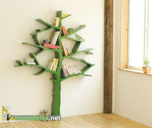 необычная полка дерево