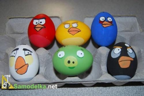 Angry Eggs как креативно раскрасить яйца под angry birds