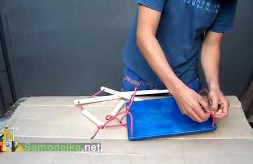 как сделать детские качели своими руками завязываем узлы