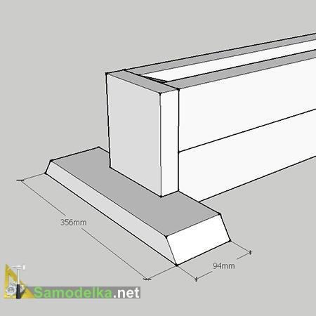 чертеж сборки подставки под коробку