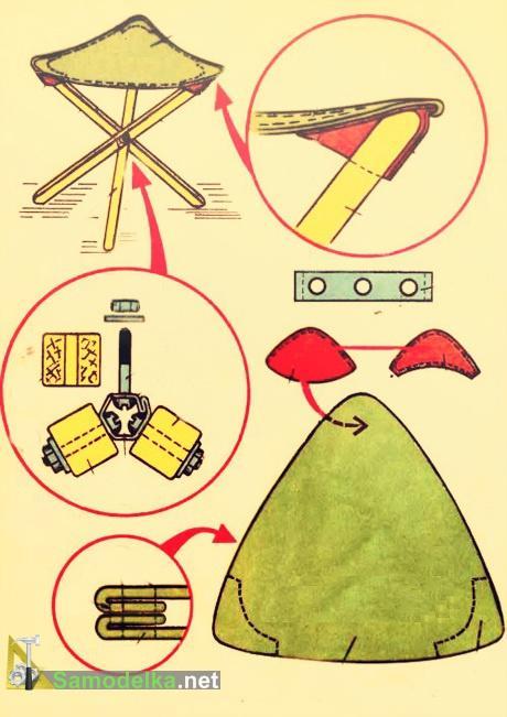 вариант трехножного рыбацкого стульчика