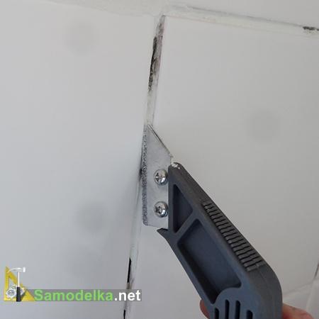 как заменить затирку на плитке - вычищаем шов